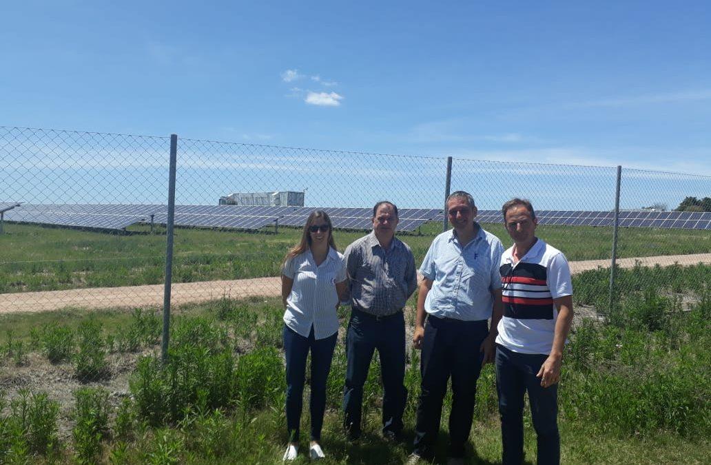 SE VISITÓ EMPRESA URUGUAYA VINCULADA A LA CONSTRUCCIÓN DE PLANTAS DE ENERGÍA SOLAR FOTOVOLTAICA