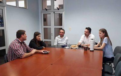 SE RECIBIO A FUNCIONARIOS DEL MINISTERIO DE DESARROLLO SOCIAL DE LA PROVINCIA